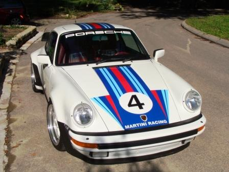 Magnetic and Vinyl Graphics and Decals for Porsche - Martini Rossi